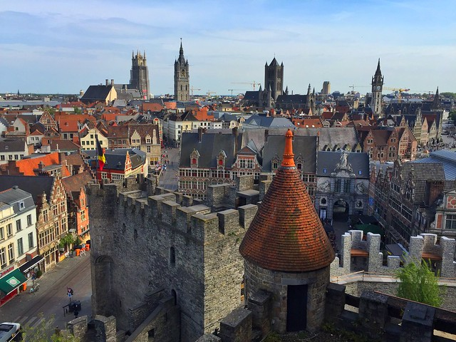 Gante desde el Castillo de Granvensteen (Flandes)