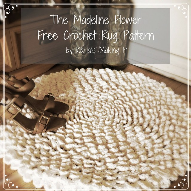 The Madeline Flower Crochet Rug Pattern – by Karla's Making It