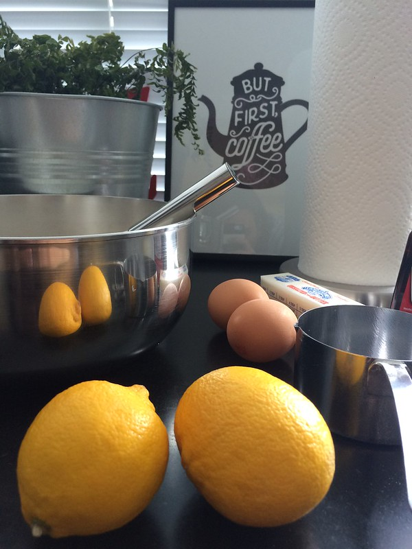 Preparing to bake lemon poppyseed muffins