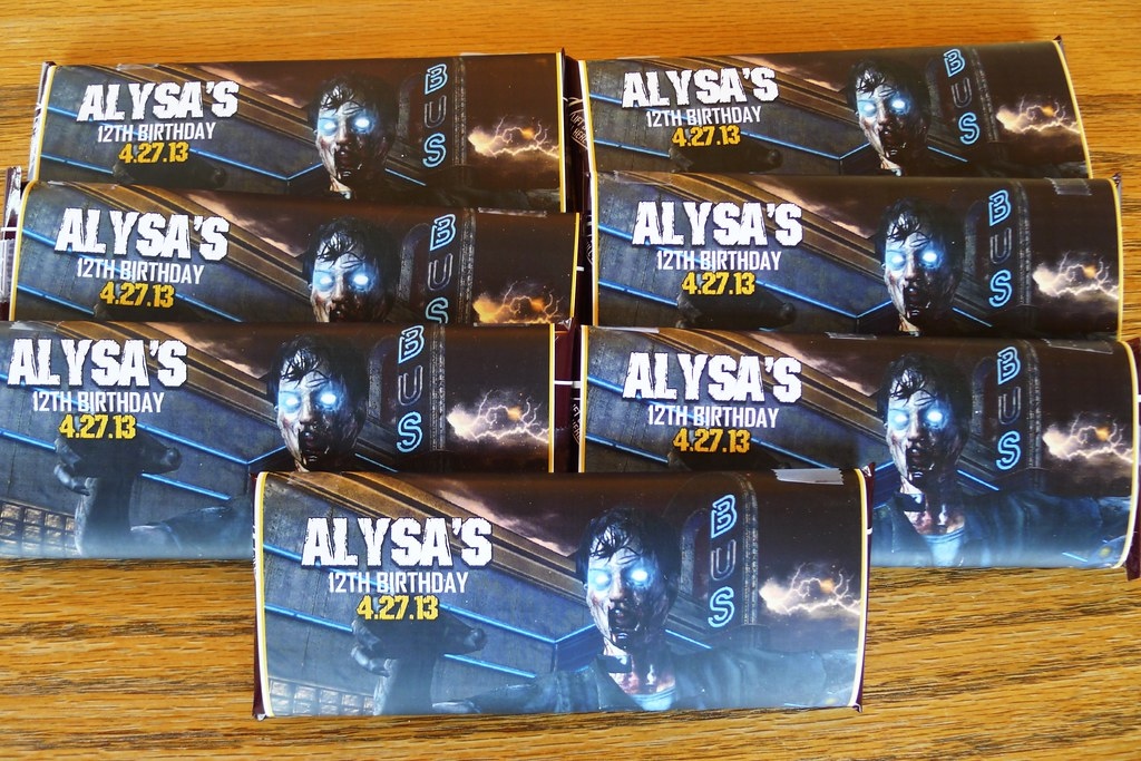 Call of duty black ops party favors we handed out these for R b party decorations