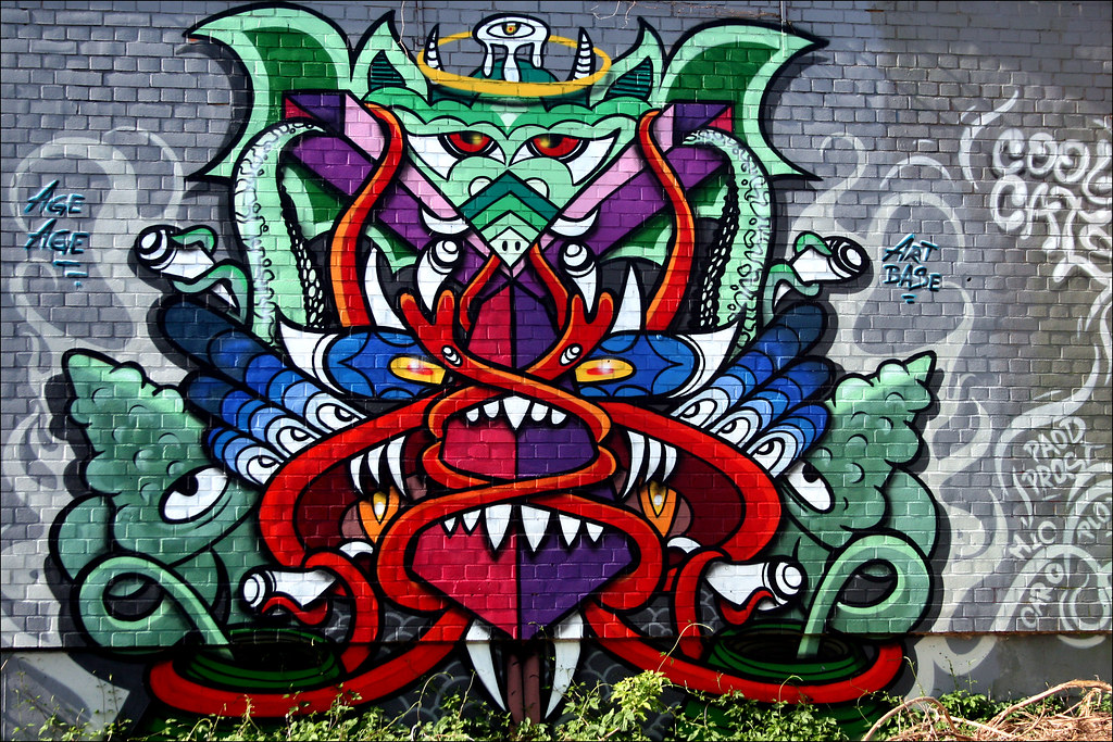 Urbex Graffiti  E  A Devils Mountain By Alias Urban Artefakte
