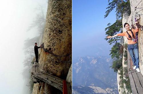 Chang Kong Cliff Road On The Edge Of China S Huashan Mount