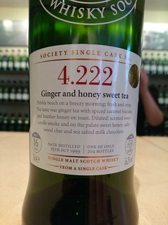 SMWS 4.222 - Ginger and honey sweet tea
