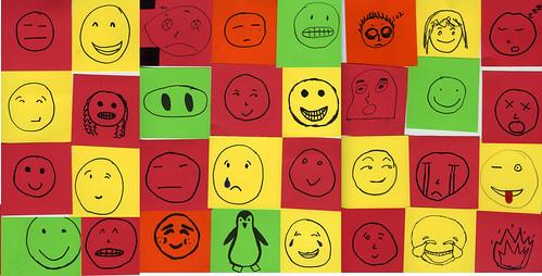 inktober students self portrait emoji