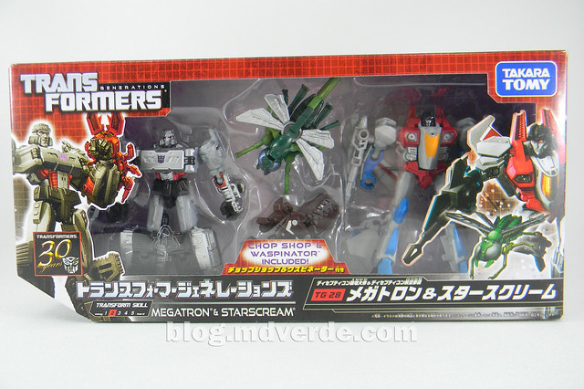 Transformers Megatron con Chop Shop & Starscream con Waspinator - Transformers Generations Takara - caja