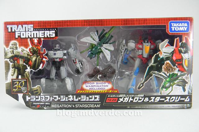 Transformers Megatron con Chop Shop & Starscream con Waspinator - Transformers Generations Takara - caja