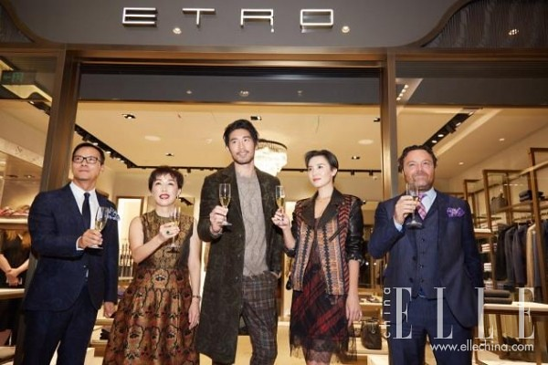 Godfrey opening song Jia Beijing, SKP ETRO new men's Boutique
