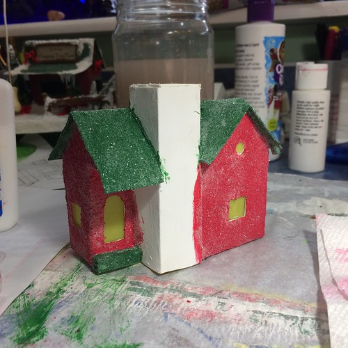 Red and green Putz house