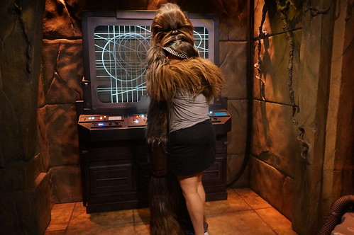 Tracey meets Chewbacca | by Disney, Indiana