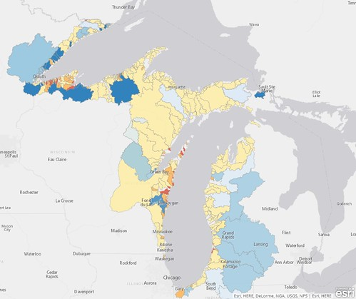 A water quality risk map