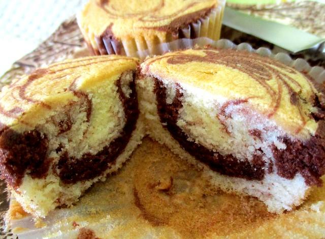 Marble cupcake, inside 1