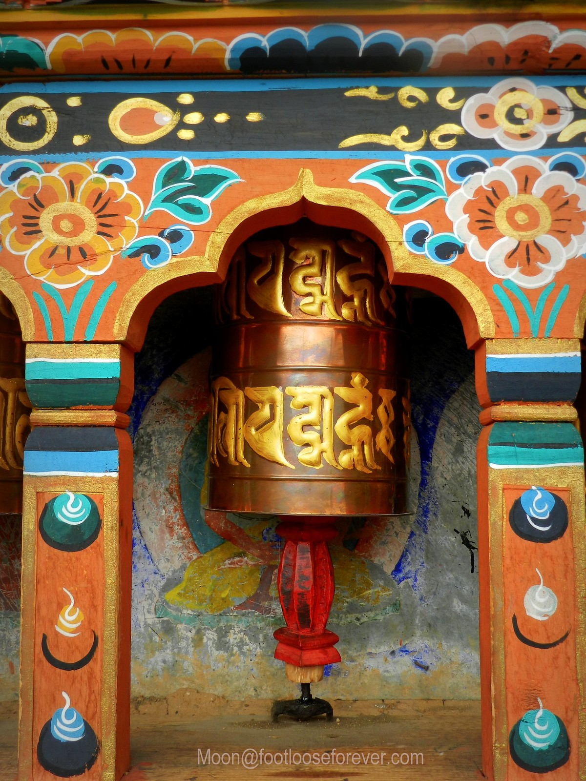 prayer wheel, monastery, bhutan