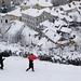 Snowing on the top of Ljubljana
