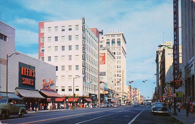 vintage riverside avenue spokane washington 1950's