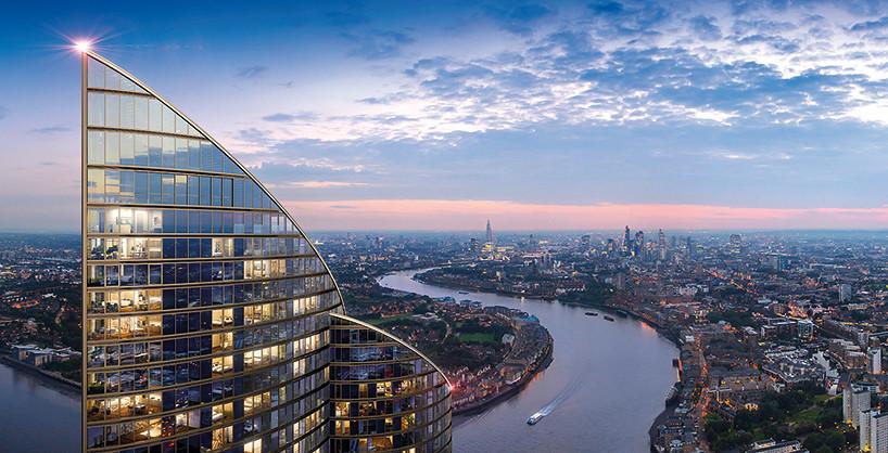 Ночная панорама Лондона с высоты башни