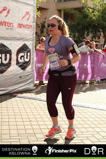 Kelowna half marathon 2016 - finish line 2