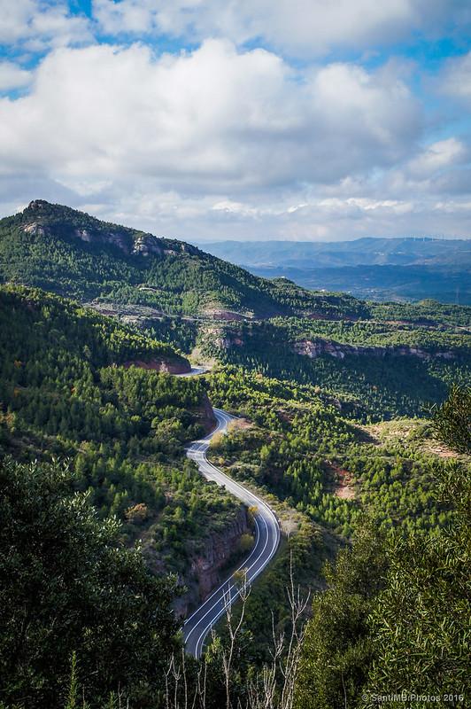 La carretera de Can Maçana.
