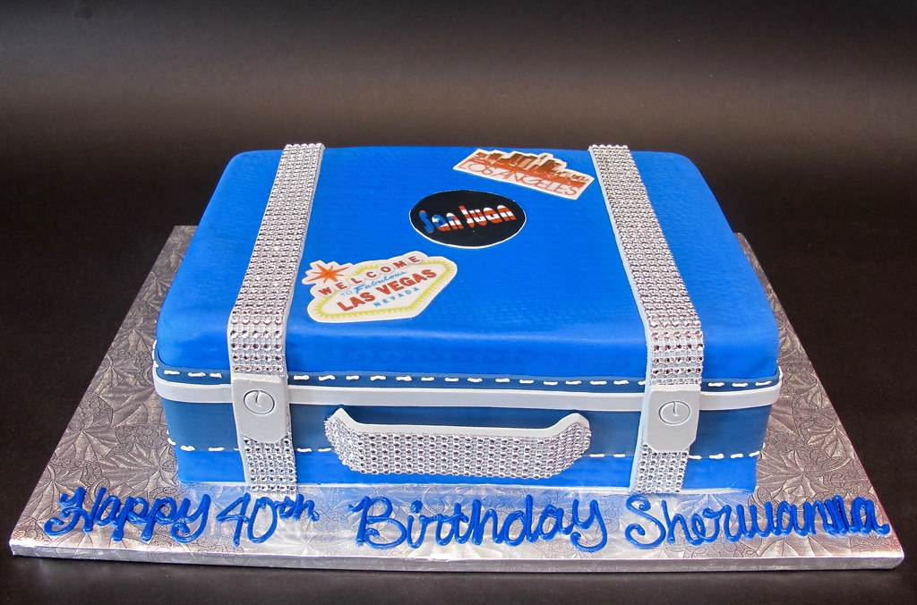 Suitcase Birthday Cake With Travel Stickers 700102 Flickr
