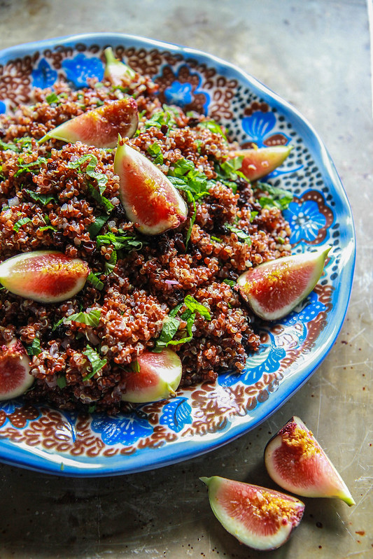 Quinoa Salad with Mint, Currants and Figs
