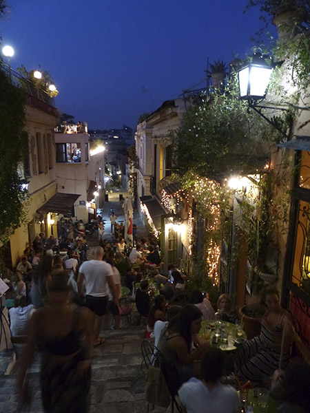 anafiotica restaurants la nuit