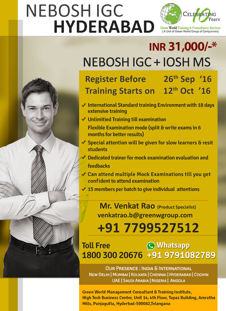 Nebosh Igc With Iosh Ms Certification In Hyderabad Flickr