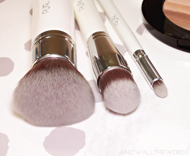 pur brushes- powder foundation, contour foundation, precision crease (3)