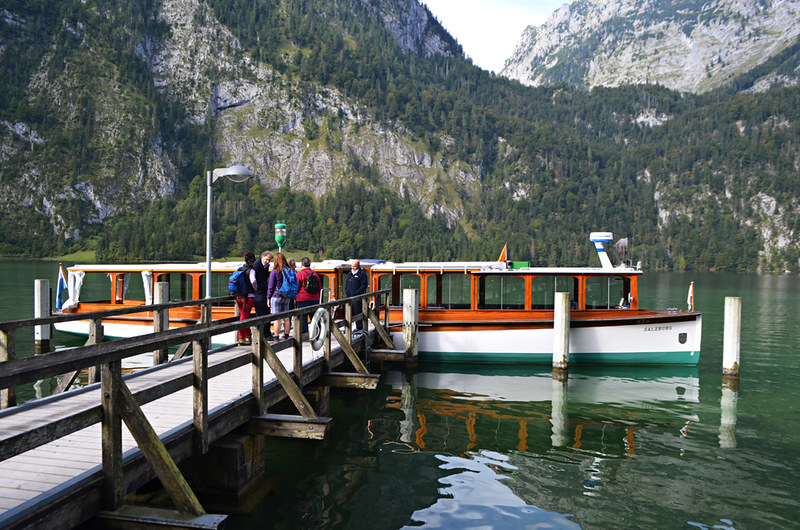 Electric boat to Salet, Konigssee, Bavaria