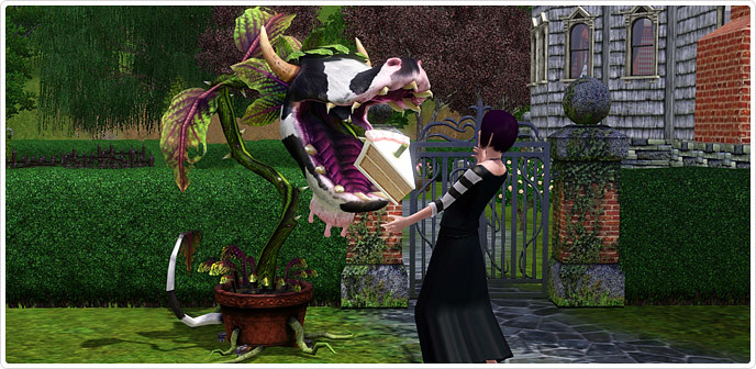 Planta-Vaca en Los Sims 3