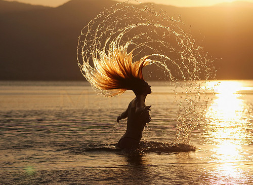 flipping hair in water hair water sunset sunrise flickr. Black Bedroom Furniture Sets. Home Design Ideas
