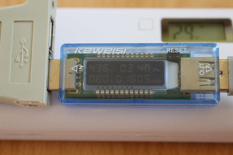 Şəkil 24. USB qida analiz modulunun ölçmə nəticəsi