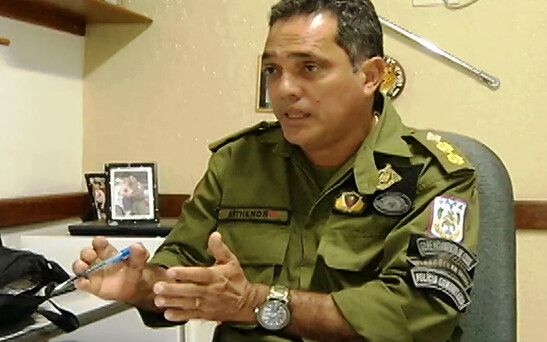 Coronel da PM renuncia candidatura a vereador pelo PSC, que apoia Alexandre Von, foto do Coronel Anthenor Nascimento