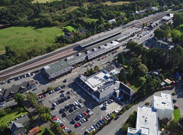 Tesco store aerial image