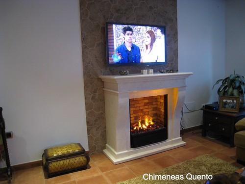Chimenea quento modelo kreta showroom crta - Chimeneas quento ...