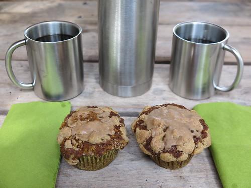 Apfel-Kürbis-Muffins zum Tee (bei Rast an der Emsquelle)