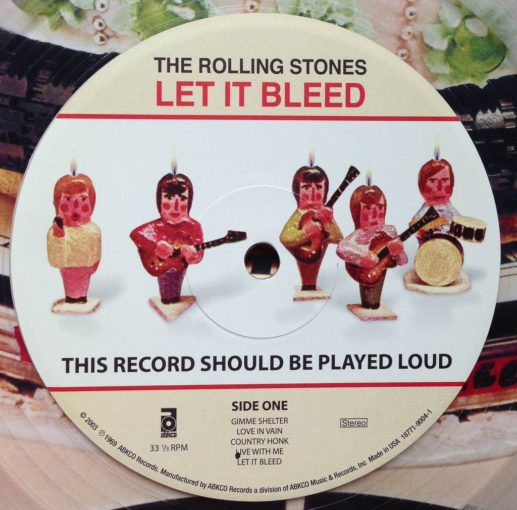 The Rolling Stones Let It Bleed Lp On Clear Vinyl Flickr