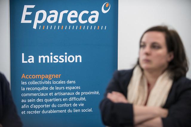 Signature du Contrat d'Objectifs et de Performance de l'EPARECA à Pantin