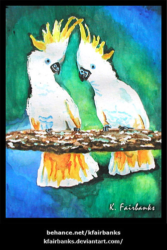 Cockatoos Painting by K. Fairbanks | by graphix9