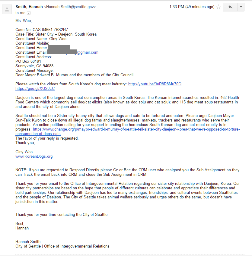 Response from Seattle Office of Intergovernmental Relations_101716