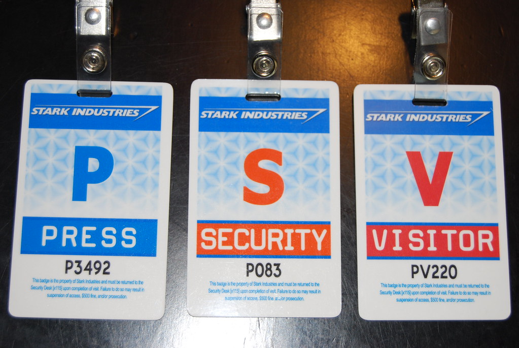 Stark Ind ID Badges