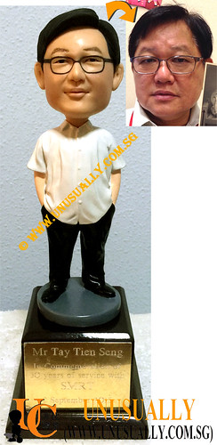 Custom 3D Farewell Trophy Base Figurine - © www.unusually.com.sg