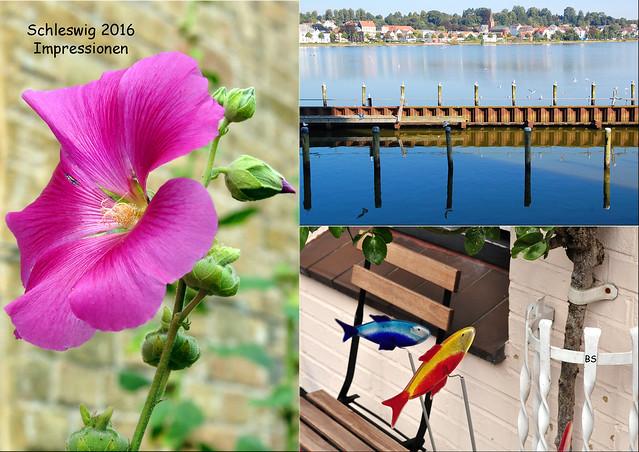 Schleswig-Urlaub 2016 ... Streifzüge, Entdeckungen, Impressionen ... Fotos und Collagen: Brigitte Stolle