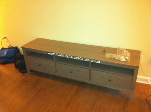 Ikea hemnes tv stand assembly service in silver spring md for Ikea silver spring