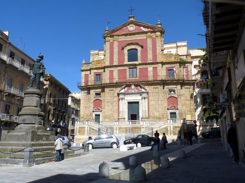 Caltanissetta La Chiesa Di Sant Agata Al Colleggio In Co