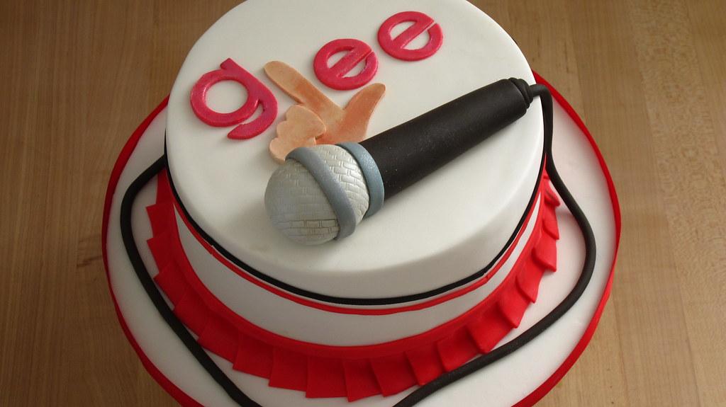 Birthday Cake With Microphone Free Photo
