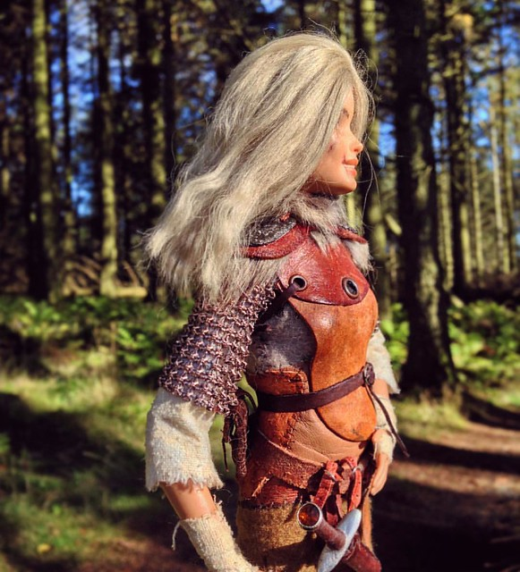 Aeryn the Nord Sellsword . . #barbie #custombarbie #customdoll #dollphotography #sixthscale #6thscale #playscale #dollstagram #instadoll #skyrim #skyrimfigure #dollsofinstagram #barbiemadetomove