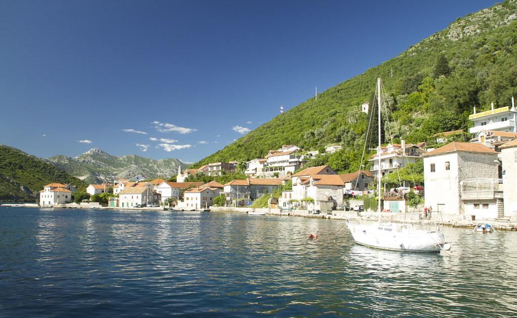 The Bay and A Boat - Herceg Novi