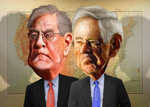 Charles and David Koch - The Koch Brothers | by DonkeyHotey