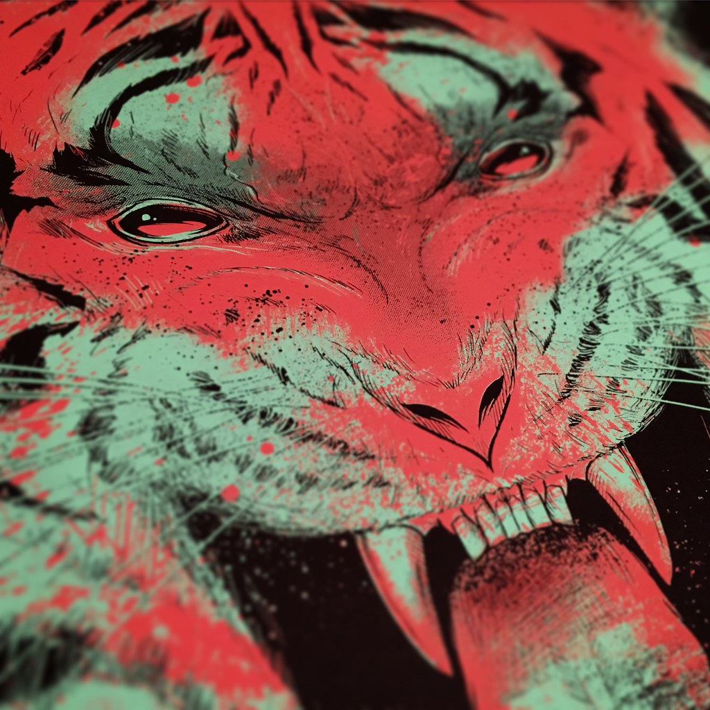 Seventh Fury Tiger Print Detail