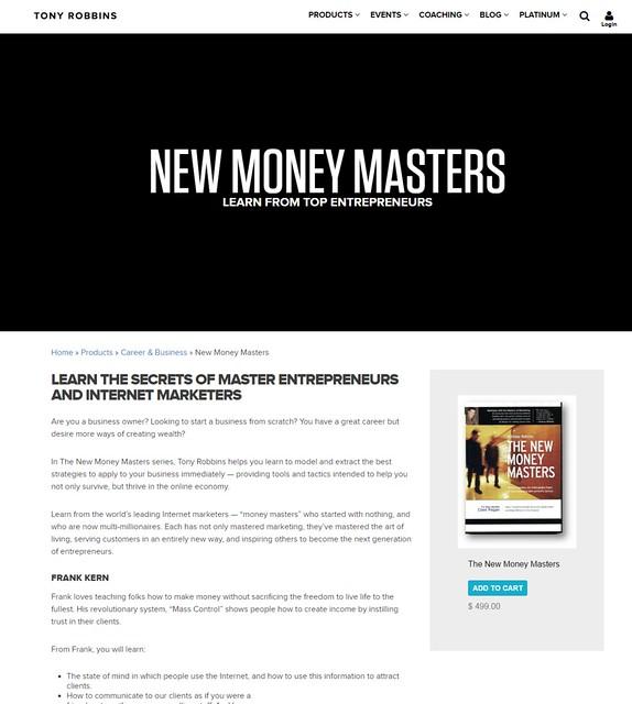 『ザ・ニュー・マネー・マスターズ』(『The New Money Masters』)