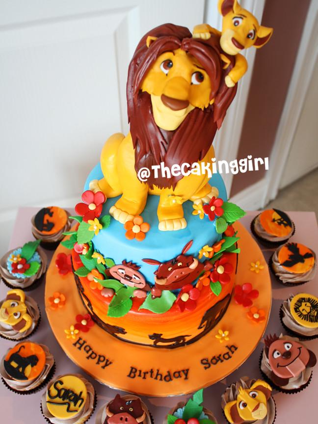 Lion King Simba Kiera Cake With Cupcakes Visit My Blog At Flickr